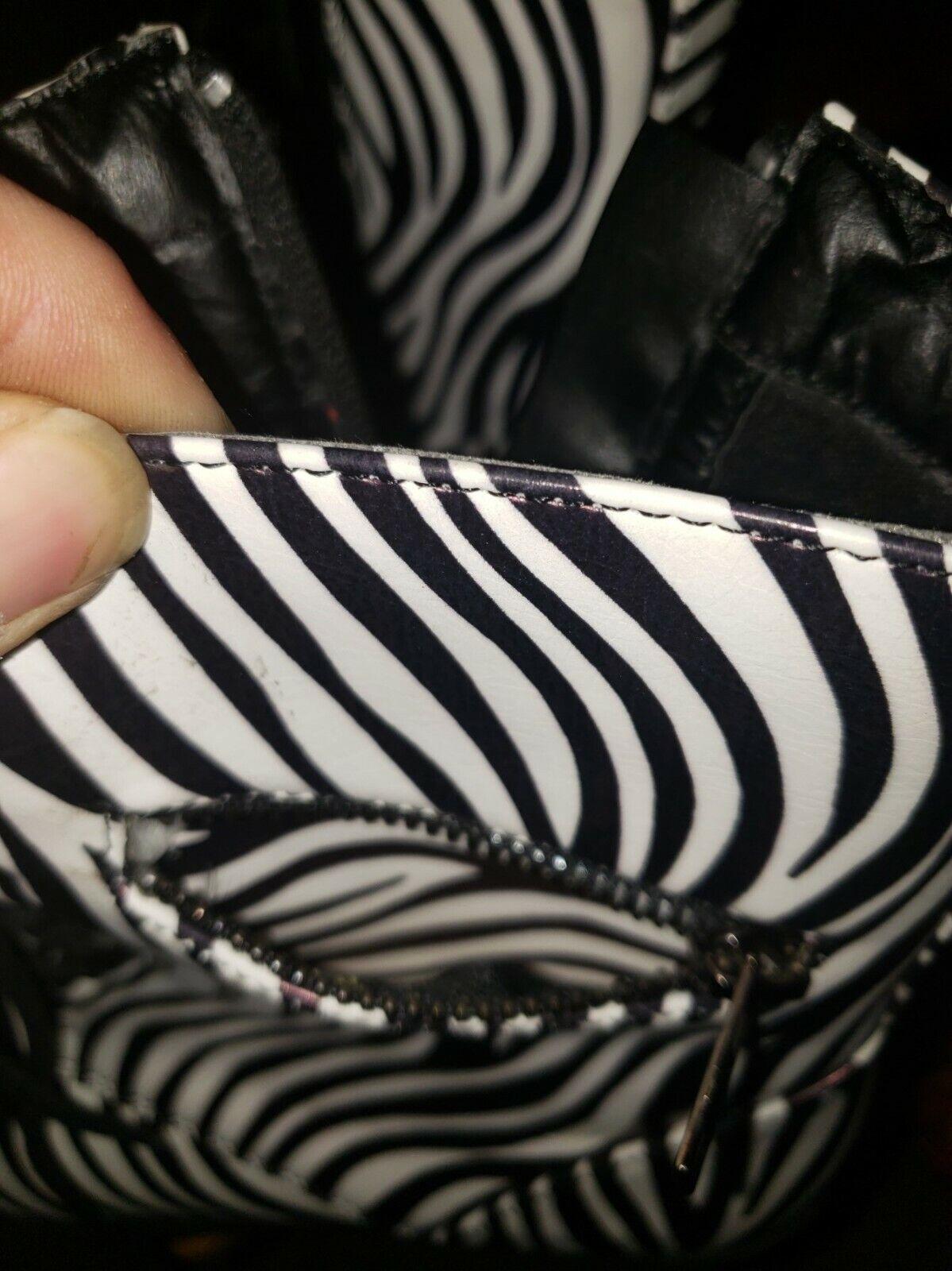 cinak mid calf zebra print womens size 7 boots - image 3