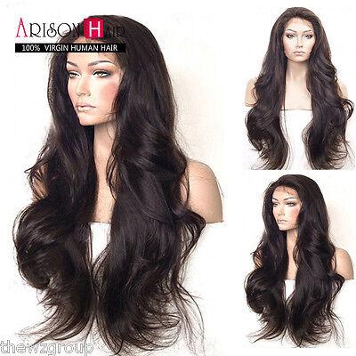 Hotsale Glueless Lace Front Human Hair Wigs Peruvian Virgin Loose Wave Full Wigs