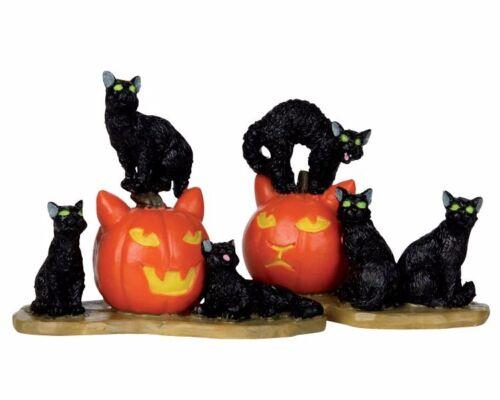 Set//2 412 Halloween - Halloween Cats Spooky-Town 12883 Lemax