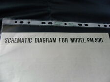 Marantz Model PM 500  Factory Original Schematic Diagram New
