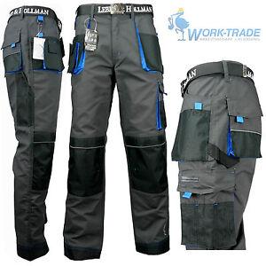 Arbeitshose-Bundhose-Arbeitskleidung-Schutzkleidung-Grau-Schwarz-Blau-Gr-46-62