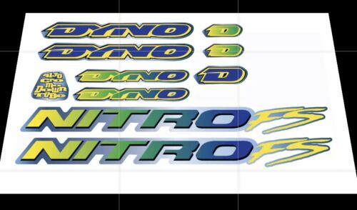 Dyno Nitro FS 1993 decals stickers Old mid school bmx