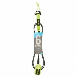 New-FCS-6-039-Comp-Competition-Essential-Surfing-Surfboard-Leash-Fluro-Green