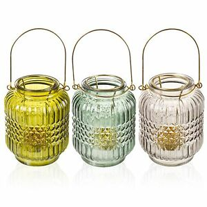 3-x-Glass-Tea-Light-Candle-Lantern-Holders-Round-Table-Wedding-Centrepiece-Decor