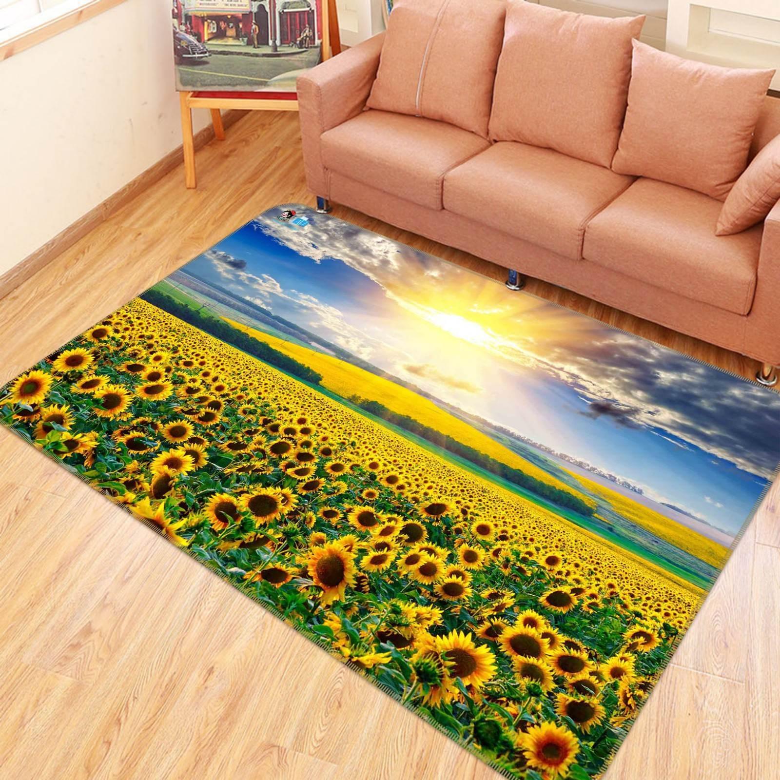 3D Sun Sunflowers 63 Non Slip Rug Mat Room Mat Quality Elegant Photo Carpet AU