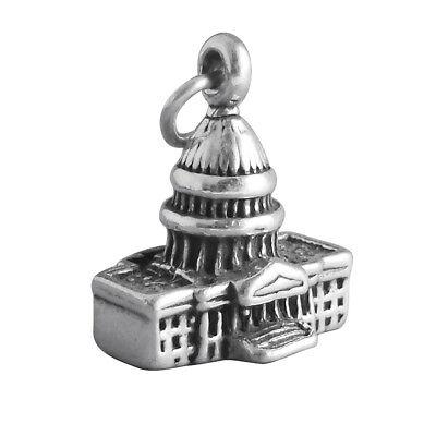 Vintage Souvenir Charm Capitol Building Charm Washington DC USA Charm Patriotic Charm Sterling Silver Charm