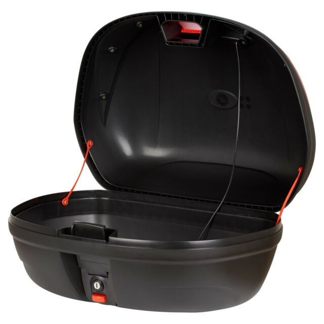 Ryde LED 43L Motorcycle Helmet Topbox Light Black Motorbike/Bike Luggage Storage