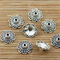 20pcs tibetan silver tone 14mm wide bead cap EF1925