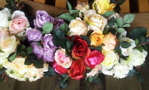 Englische Rosen Kent Herrlicher Rosenstrauß Rosen Seidenblumen Kunstblumen Rose