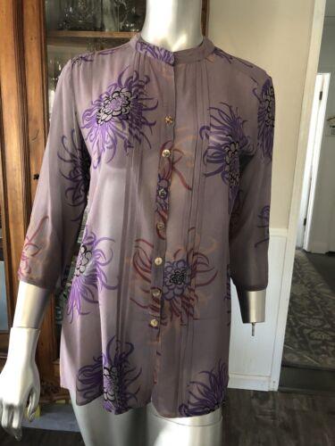 poeme citron lavender silk blouse