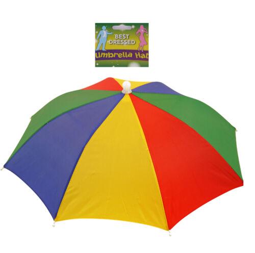 Rainbow Umbrella Hat-Fantastique Pour Festivals et Porte des événements Pliable