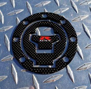 GSX-R REAL Carbon Fibre Fuel / Gas Cap Pad Tank Cover Suzuki GSXR 600 750 1000
