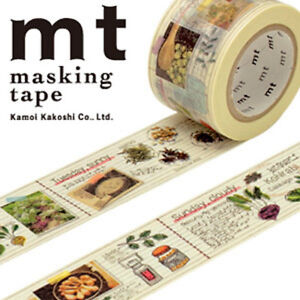 MT-Washi-Masking-Deco-Tape-Cook-039-s-Recipe-Diary-Design