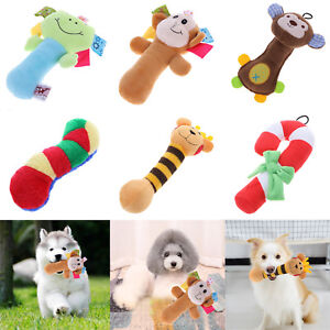 Pet-Dog-Soft-Plush-Cartoon-Sound-Squeaky-Bear-Puppy-Bite-Chewing-Crutch-Squeaker