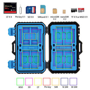 27 In 1 Nano-SIM Card PIN Holder Memory Card Case CF SD TF Storage Box