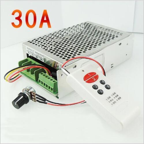 Remote control DC motor speed controller  30A 12V 24V 30V Positive inversion