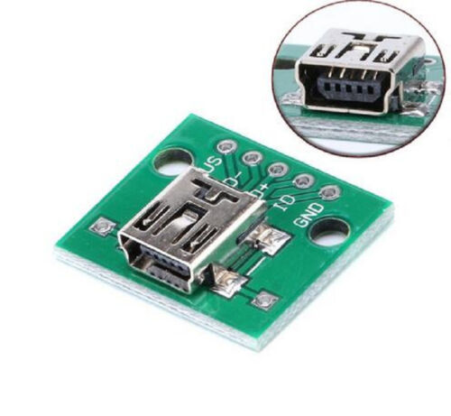 10 pcs Mini USB to DIP Adapter Plate Converter for 2.54mm PCB Board