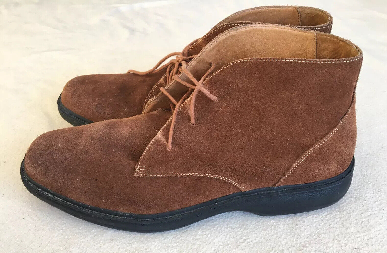 Dr. Comfort Ruk Brown Suede Leather Chukka Ankle Boots High Top Lace Up Size 14W