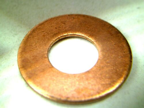 """LOTS OF 5 SOLID COPPER FLAT WASHERS 3//8/"""" ID x 7//8/"""" OD x 1//16/"""" THICK RC 10,/& 25"""