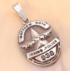 Vintage sterling silver miniature police badge pendant free image is loading vintage sterling silver miniature police badge pendant free mozeypictures Choice Image