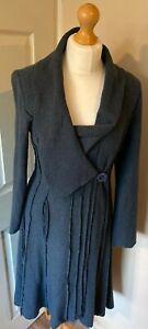 Bohemia-Sweden-Boiled-Wool-Jacket-Coat-Small-Uk-8-10-Grey-Laggen-Arty