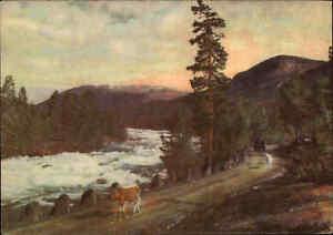 NORWEGEN-Norge-Norway-1940-50-Grotli-Polfoss-Foto-Serie-Normann-Kunstforlag