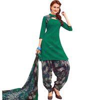 Readymade Printed Cotton Salwar Kameez with Chiffon Dupatta-Surya-Paneri-5007