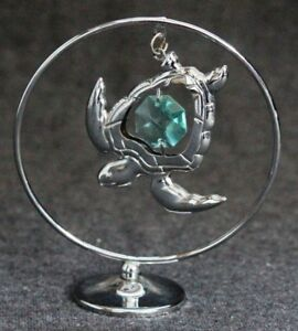 Sea-Turtle-Ocean-Life-Figurine-Statuette-Home-Decorative-Ornament-by-Crystocraft