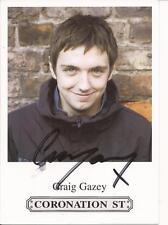 CORONATION ST *CRAIG GAZEY 'GRAEME PROCTOR ' SIGNED 6x4 PORTRAIT PROMO PHOTO+COA