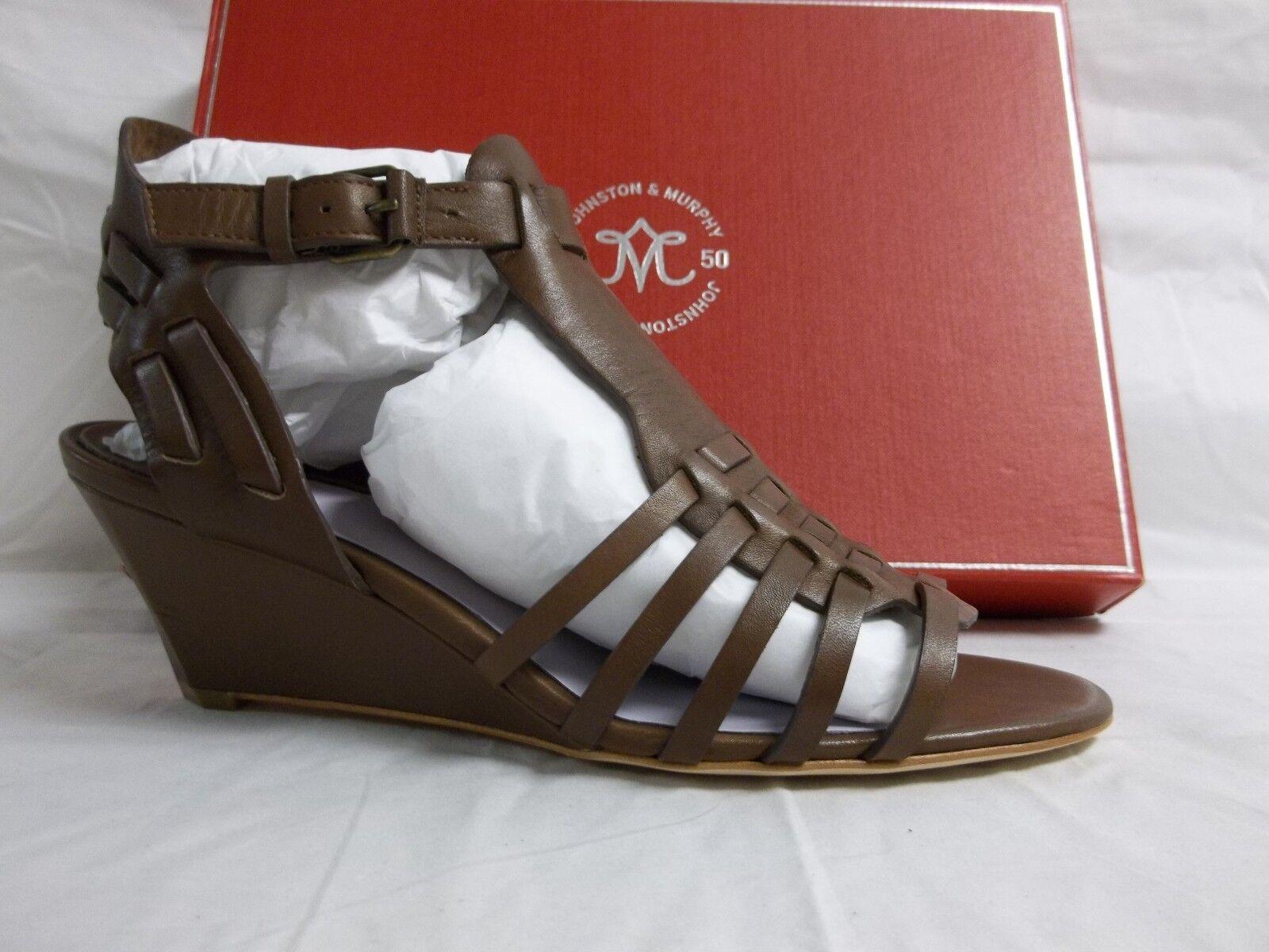 risparmia fino al 50% Johnston & Murphy Dimensione 7 M Kaye Kaye Kaye Cognac Leather Open Toe Wedges New donna scarpe  grande vendita