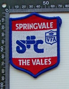 RARE VINTAGE VFA SPRINGVALE THE VALES EMBROIDERED WOVEN CLOTH VFL SEW-ON BADGE