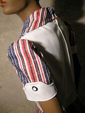 CHIC VINTAGE ROBE RAYEE SIXTIES DRESS VTG MOD TWIGGY STRIPE 60s ABITO RETRO (38)