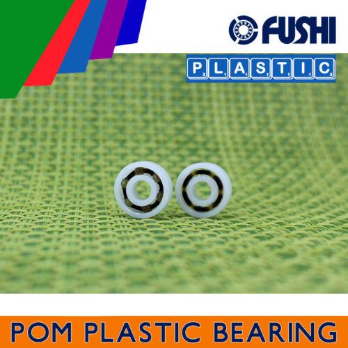 5Pcs Plastic Nylon POM Ball Bearing Bearings 3*9*3 603 3x9x3 mm