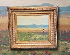 Landschaft am Balaton. Altes Ungarisches impressionistisches Ölgemälde Ölbild