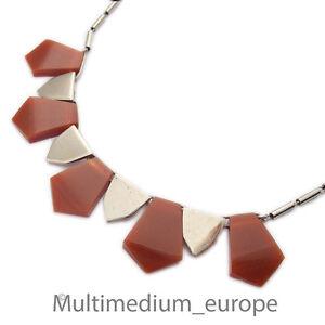 Schmuck & Accessoires Gewissenhaft Jakob Bengel Galalit Bakelit Collier Art Deco 30er Jahre Necklace 30s Versilbert