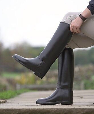 Shires Mens' Long Rubber Tall Horse Riding Boots - Mens ALL SIZES & CALF WIDTHS