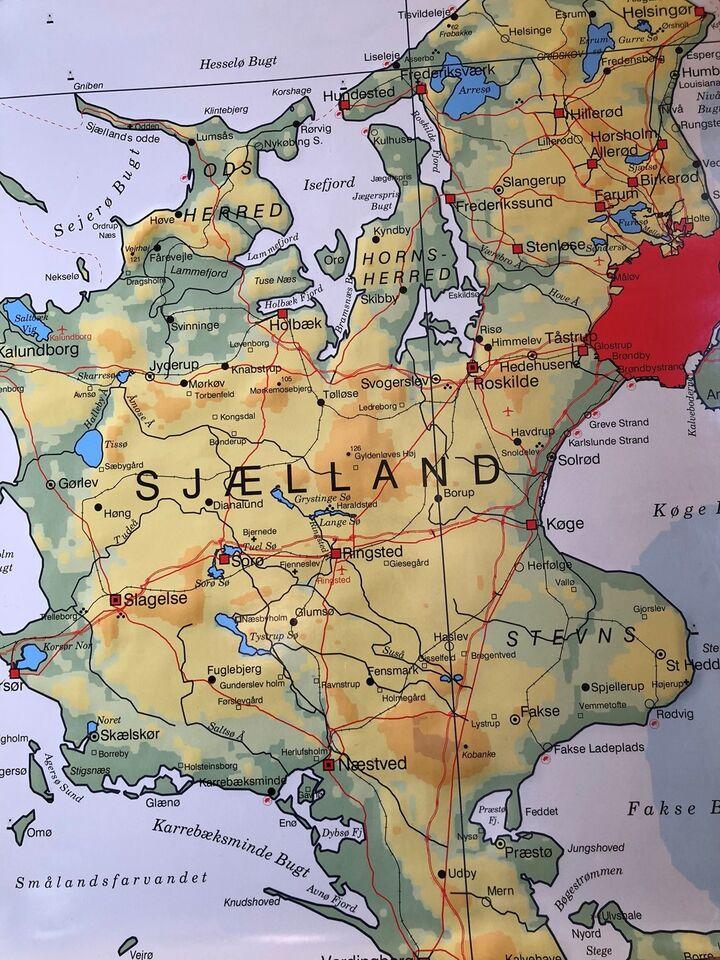 Kort Sjaelland Landkort Dba Dk Kob Og Salg Af Nyt Og Brugt