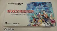 Nintendo Dsi Saga 2 Goddess Of Destiny Black & Gold Handheld System W/game