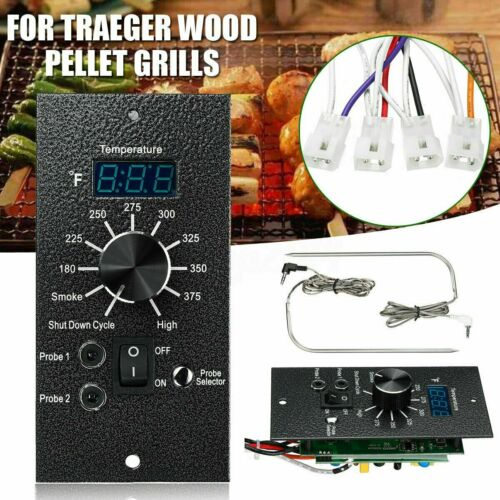 Digital Thermostat PRO Controller Board w// Meat Probes For Traeger BAC365