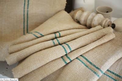 MAGENTA  grain sack grainsack material fabric hemp homespun linen Organic upholstery weight