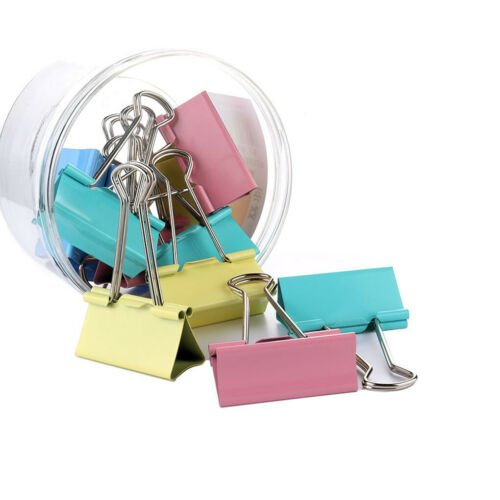 60pcs Colorful Metal Binder Clips Assorted Colors Letter Document Binder Clips