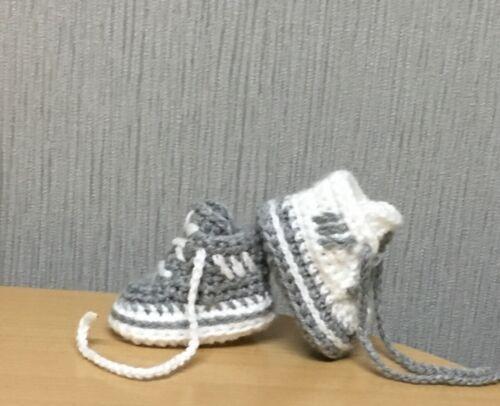 Handmade Crochet Bébé Première Chaussures Laine Décontracté Bottes Baskets Chaussons Unisexe