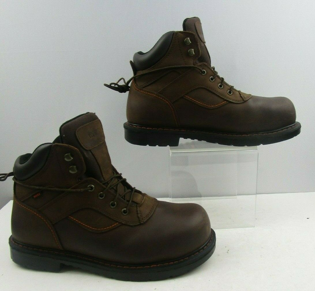 Men's Brown Leather Worx Steel Toe by Red Wing Lace Up shoes Size   12
