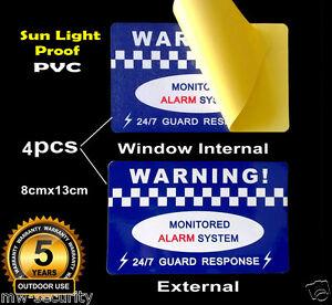 4-PVC-Vinyl-Sign-Alarm-Security-Warning-Sticker-Window-Internal-External