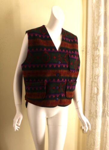 10018 Y Art-to-Wear Fleece Printed Vest Southwest