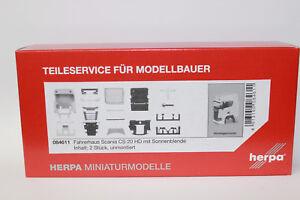 Herpa-084611-ts-conductor-casa-scania-CS-20-HD-con-parasol-1-87-h0-nuevo-en-OVP