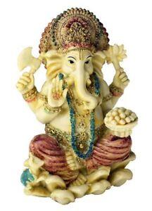 Dore-et-Rouge-Ganesh-Statue-Ganesha-Hindou-Dieu-Temple-Maison-Decoration-16cm