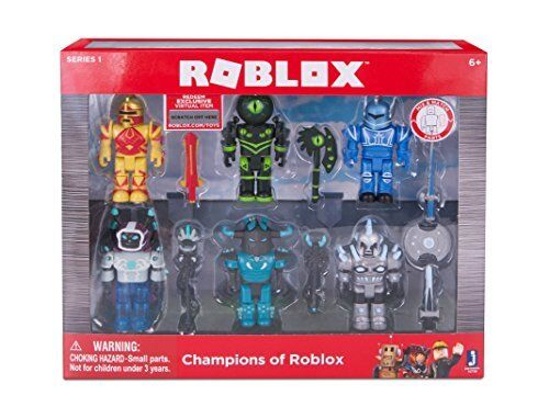 ROBLOX-Champions de ROBLOX six Figurine Pack avec Exclusive Virtual objet