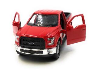 Modello-di-auto-FORD-RAPTOR-F-150-PICK-UP-ROSSO-AUTO-1-3-4-39-con-licenza