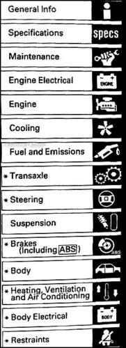 Service & Repair Manuals Honda Accord Shop Manual 2002 2001 2000 ...